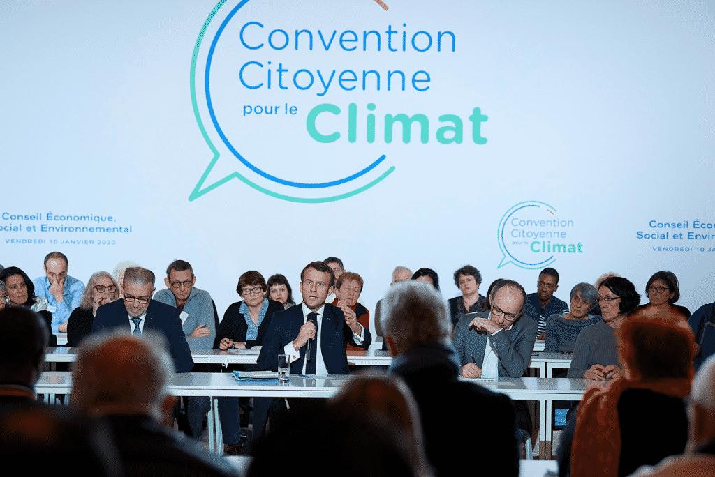 Rencontre Citoyens et Macron Convention Citoyenne pour le Climat