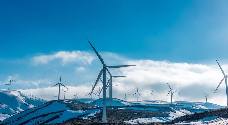 éoliennes en hiver